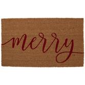 Red Merry Doormat