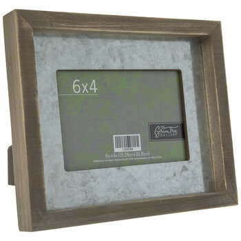 "Galvanized Metal Wall Frame - 6"" x 4"""