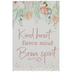 Kind Heart Floral Wood Decor