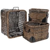 Brown Rattan Rectangle Basket Set