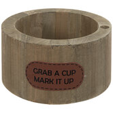 Grab A Cup Round Wood Cupholder