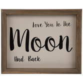 Love You To The Moon & Back Wood Wall Decor