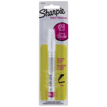 White Sharpie Fine Point Oil Based Paint Marker
