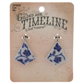 White & Blue Floral Pendants
