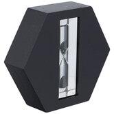Black Hexagon Wood Hourglass