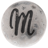 Hammered Letter Mini Snap Charm - M