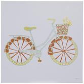 Floral Garden Bike Wood Decor