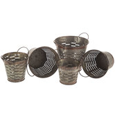 Slotted Galvanized Metal Container Set
