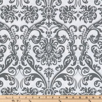Flamingo Gray Abigail Duck Cloth Fabric
