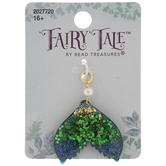 Green & Purple Glitter Tail Fin Charm