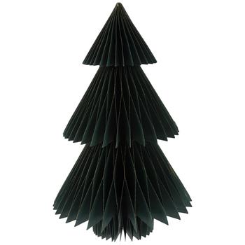 Green Glitter Trim Honeycomb Tree