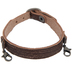 Brown Textured Thin Leather Bracelet