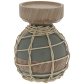Gray Nautical Candle Holder