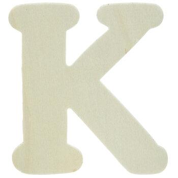 "Wood Letters K - 4"""