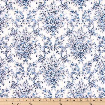 Antique Damask Cotton Calico Fabric