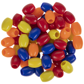 Oval Plastic Beads
