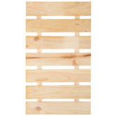 Slatted Pine Wood Wall Decor