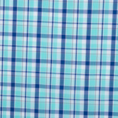 Aqua & Blue Plaid Shirting Cotton Fabric