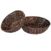 Brown Washed Round Basket Set