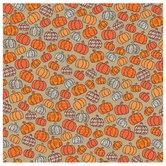 """Doodle Pumpkins Scrapbook Paper - 12"""" x 12"""""""