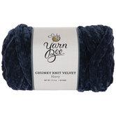 Navy Yarn Bee Chunky Knit Velvet Yarn