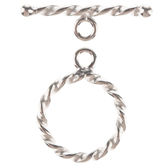 Sterling Silver Twisted Toggle Clasp