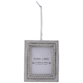 Silver Rectangle Frame Ornament