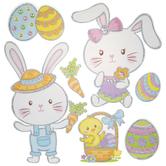 Easter Bunny & Egg Adhesive Wall Art