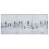 Foggy City Skyline Canvas Wall Decor