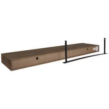 Walnut Floating Wood Wall Shelf