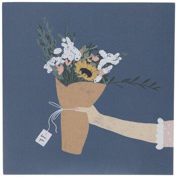 I Love You Flowers Wood Wall Decor