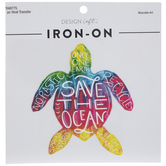 Save The Ocean Turtle Iron-On Applique