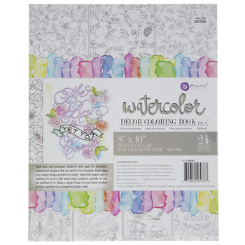 Watercolor Decor Coloring Book: Volume 4