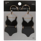 Black Swimsuit Earrings