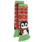 Penguin Fuzzy Toe Socks