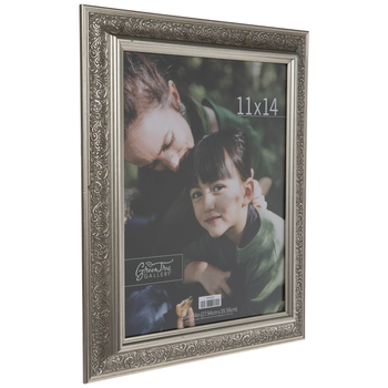 Brushed Silver Scroll Wall Frame