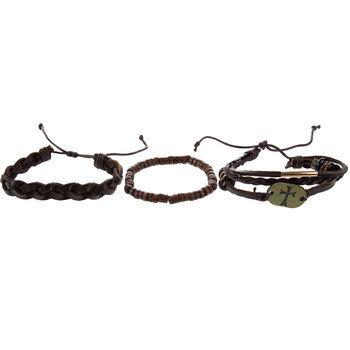 Brown Cross Slider Bracelets