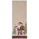 Santa With List Table Runner