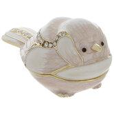 Pink & White Bird Jewelry Box