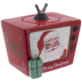 Vintage Santa Claus Television Cookie Jar