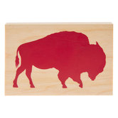 Bison Silhouette Rubber Stamp