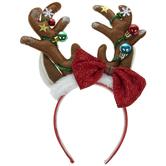 Reindeer Antlers & Ornaments Headband
