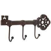 Rust Key Triple Metal Wall Hook