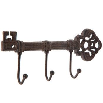 Rust Key Triple Metal Wall Hook