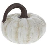 Cream Swirl Stemmed Pumpkin