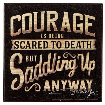 Courage Is Being Scared Wood Wall Decor