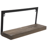 Black & Brown Rustic Wood Wall Shelf