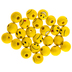 Smiley Face Wood Beads - 10mm