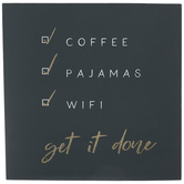 Get It Done Checklist Wood Wall Decor