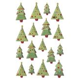 Christmas Tree Puffy Stickers
